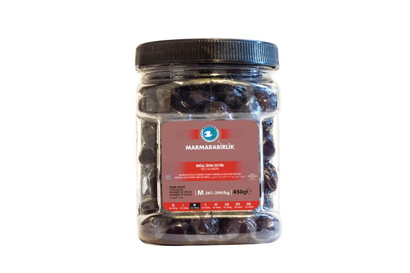 Natürliche Schwarze Oliven in Öl - 450g - M