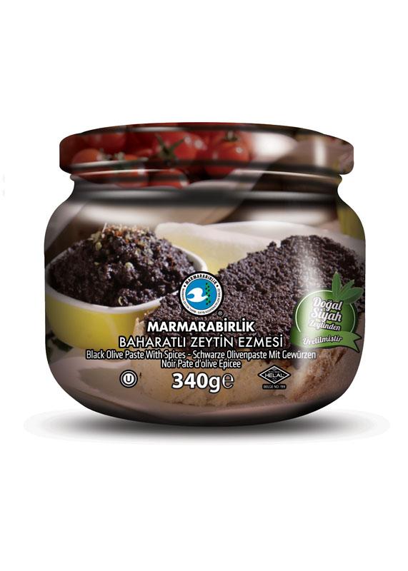 Schwarze Olivenpaste mit Gewürzen - 340g